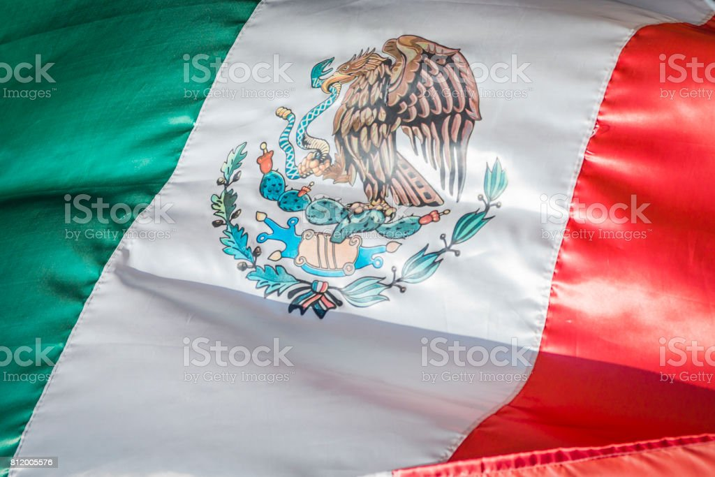 Mexican Flag, National Banner of Mexico stock photo