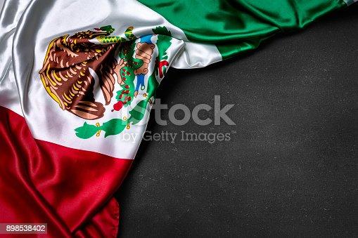 istock Mexican flag on blackboard 898538402