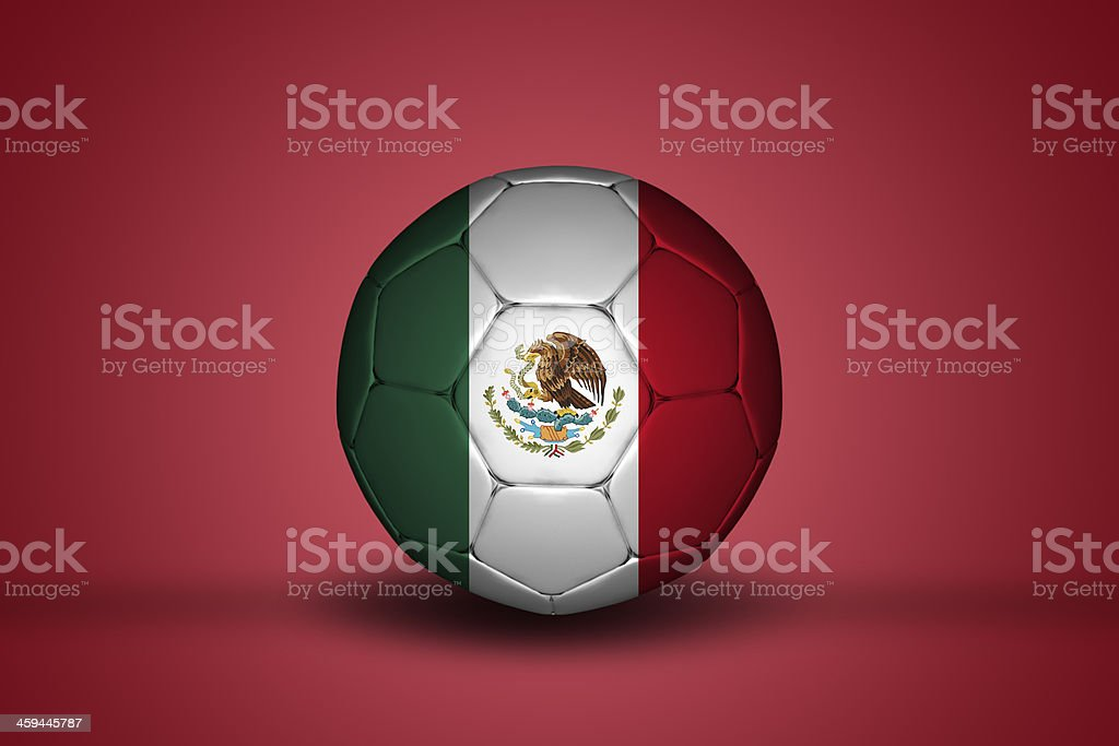 Mexican flag on football royalty-free stock photo