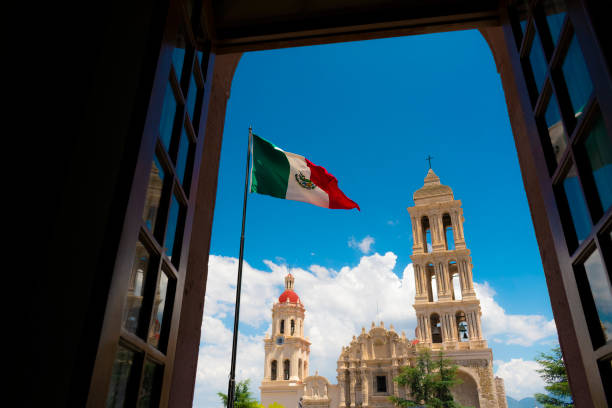 mexican flag mexican flag coahuila state stock pictures, royalty-free photos & images