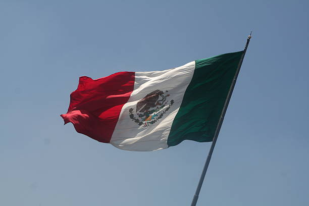 bandera mexicana stock photo