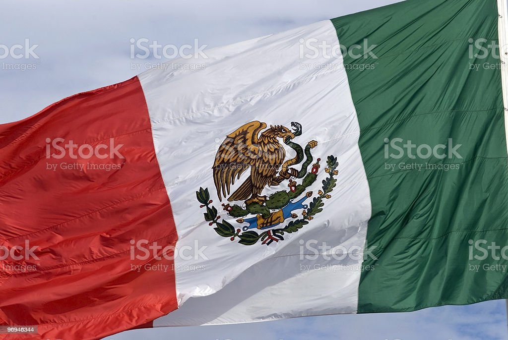 mexican flag royalty-free stock photo