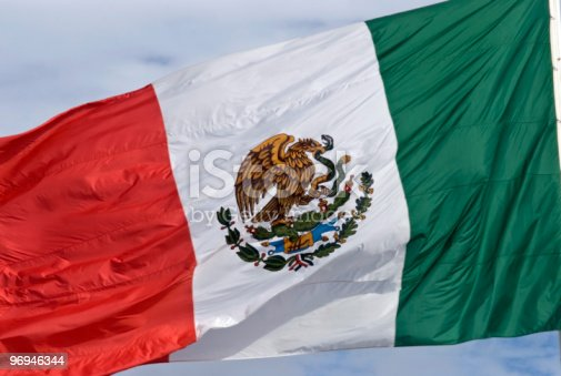 Mexican Flag Stock Photo & More Pictures of Color Image