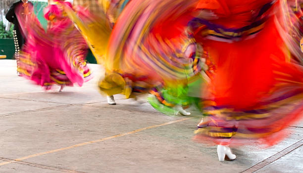 mexican folklore dancers - cinco de mayo stock photos and pictures