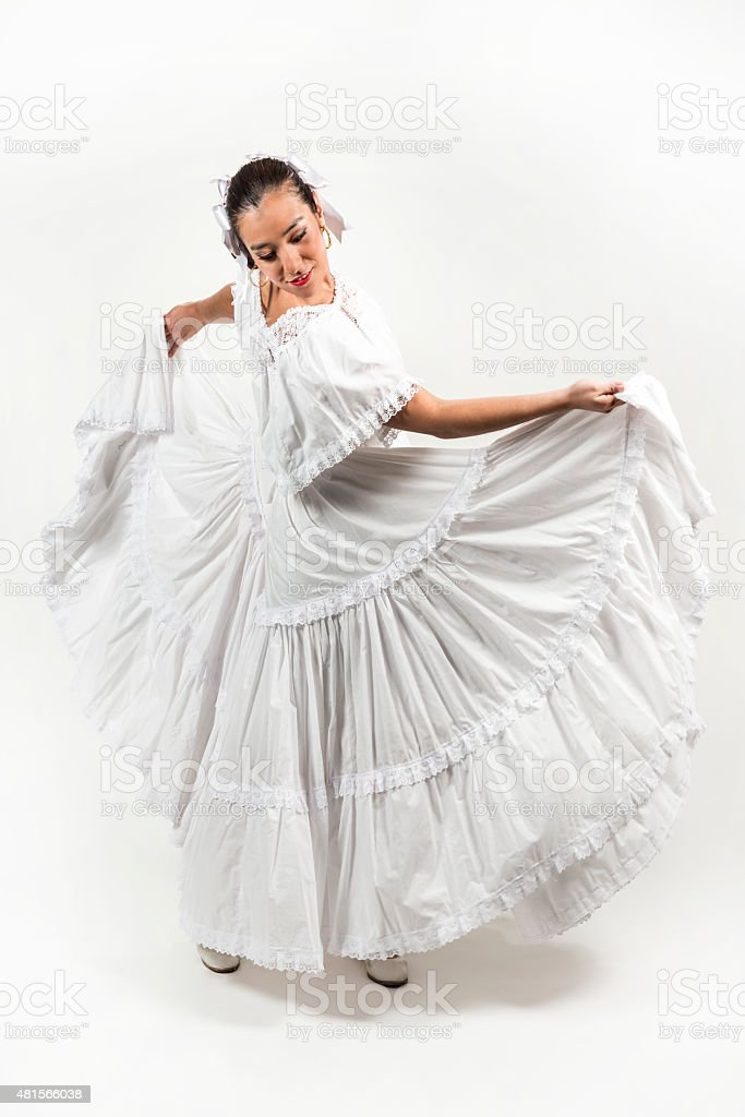 Mexican folkloric dance stock photo