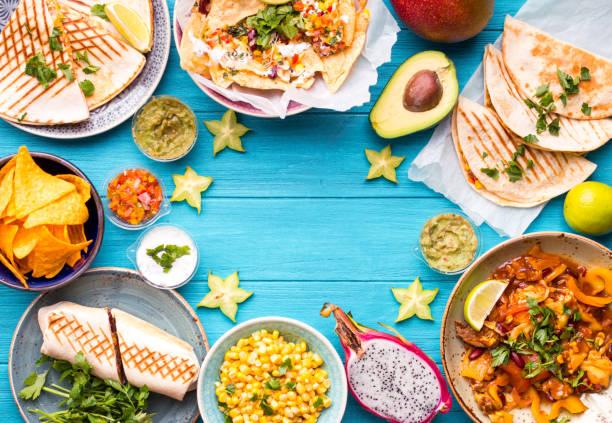 mexikansk mat bakgrund - cactus lime bildbanksfoton och bilder