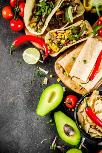 Mexikanisches Lebensmittelkonzept. Cinco de Mayo Essen. – Foto