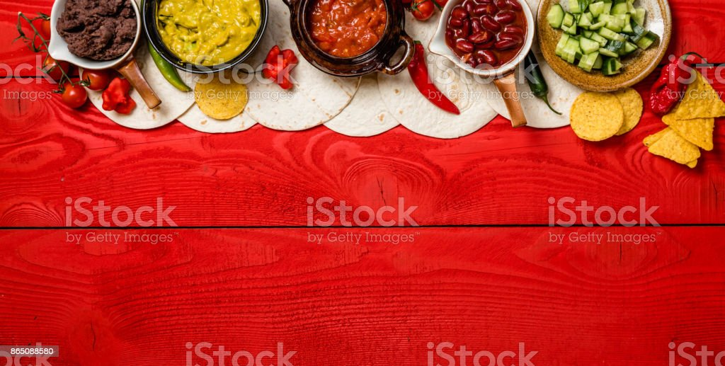 Mexican food concept stock photo
