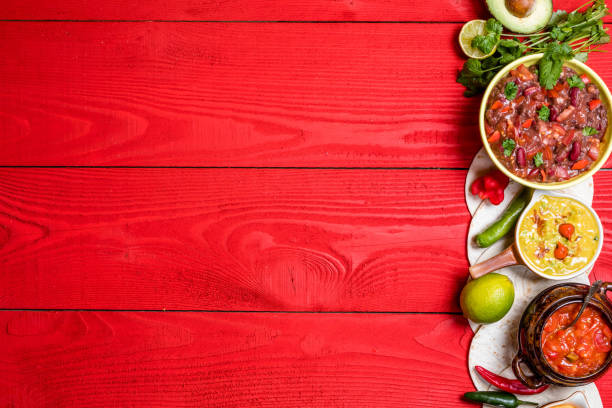 mexican food concept - chilli stock photos and pictures