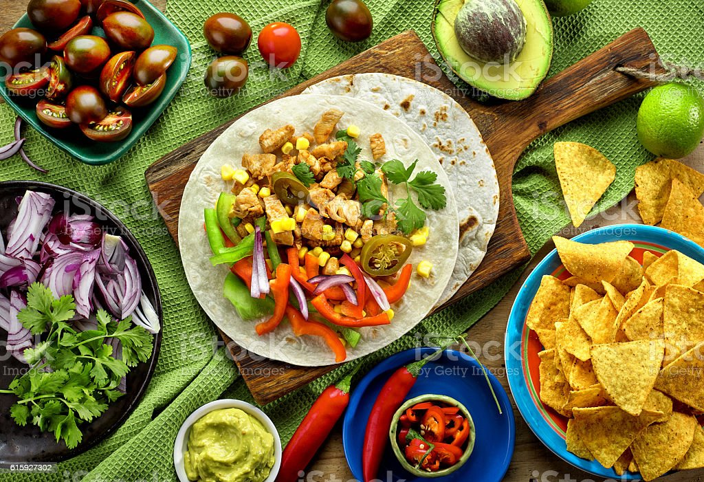 Mexican food ingredients stock photo