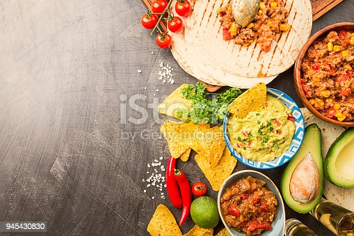 istock Mexican food mix 945430830