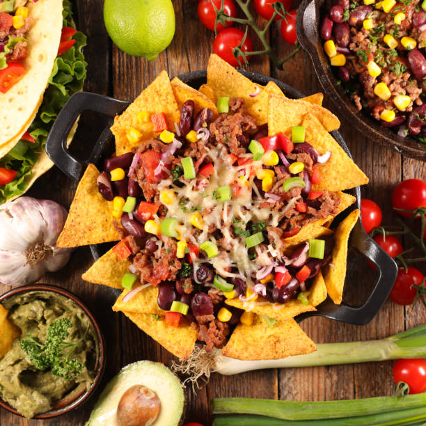 mexican food, nacho stock photo