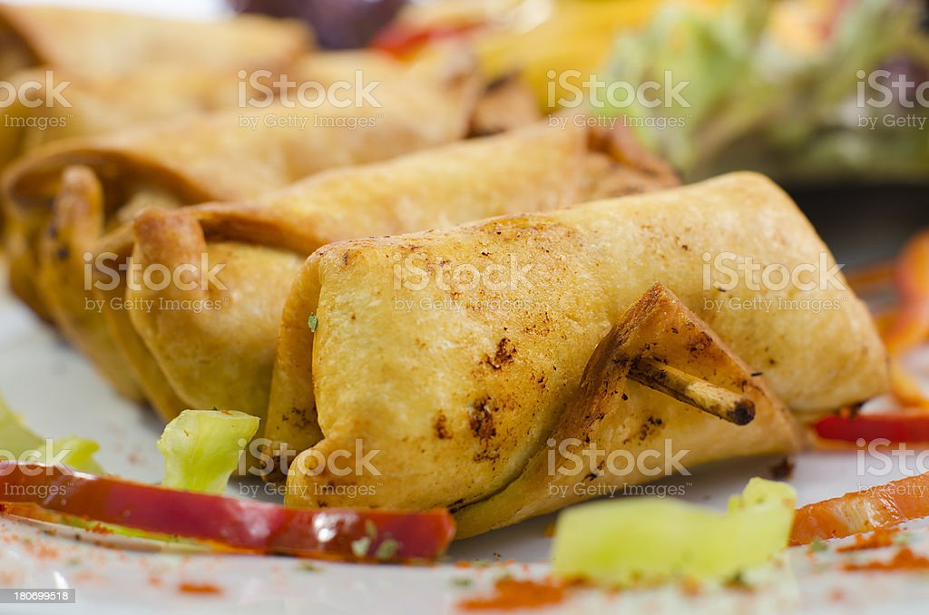 Mexican food shot in studio royalty-free stock photo