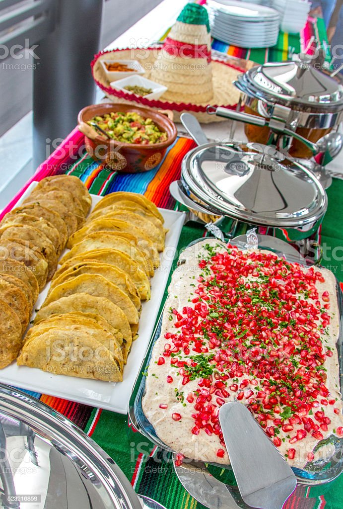 Mexican Food Tradition on Independents Day stock photo