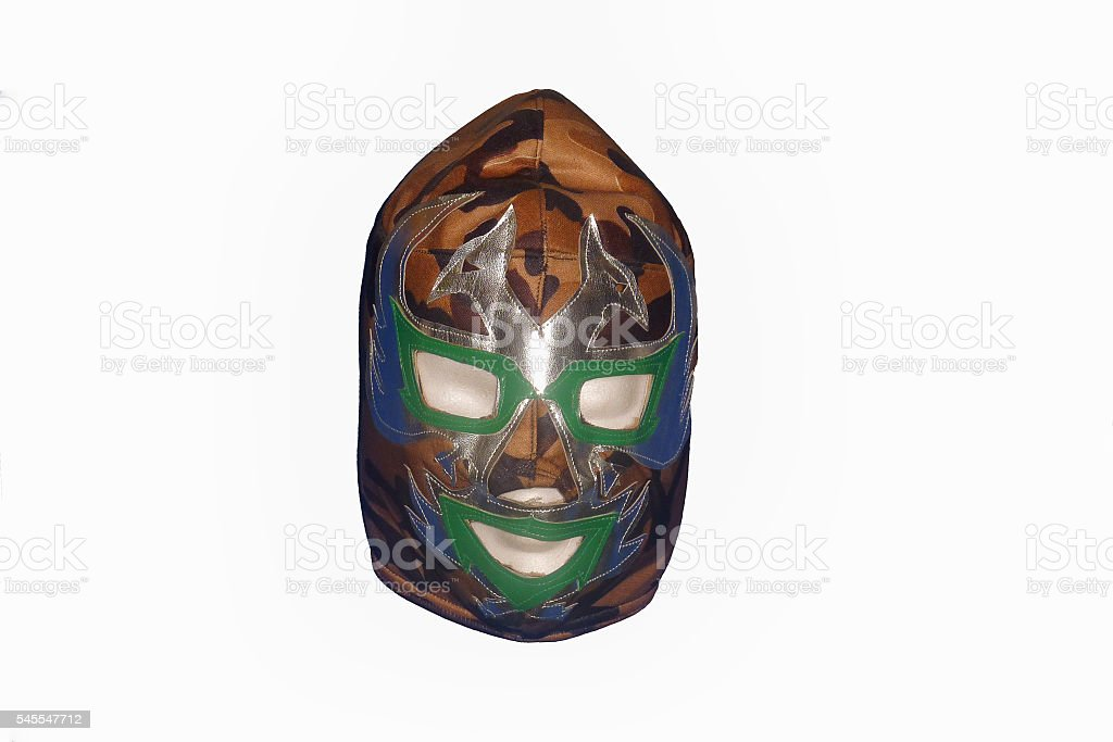 Mexican free fight mask stock photo