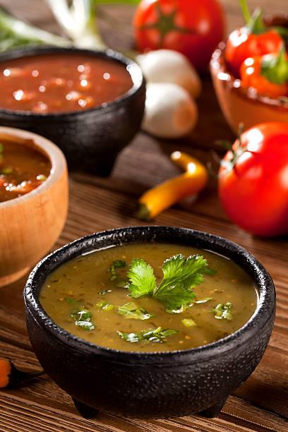 Mexicana Salsa verde - foto de stock