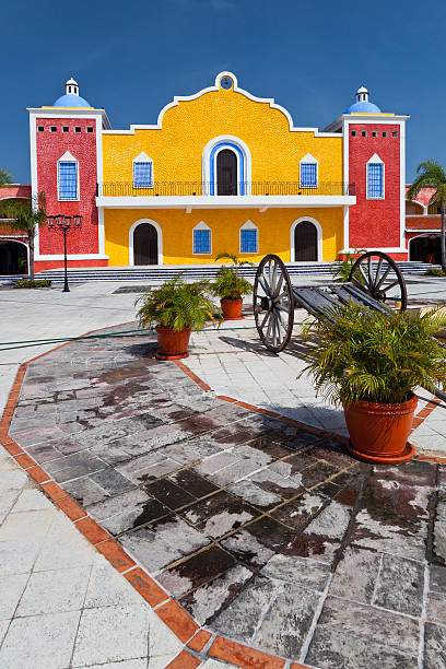 Mexican Hacienda in the Mayan Riviera stock photo