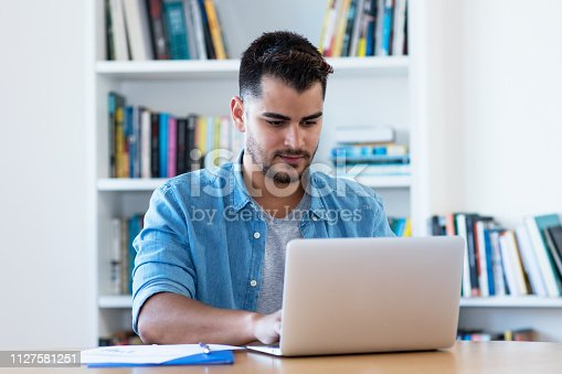 1127582480istockphoto Mexican hipster man at work with laptop 1127581251