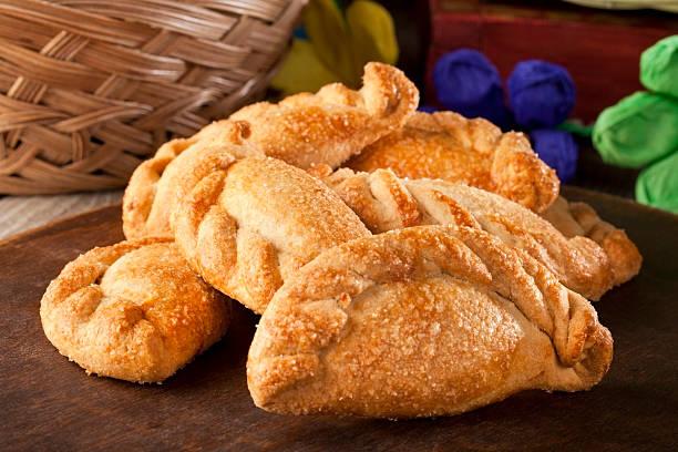 Mexican Homemade Cookies (empanadas) stock photo