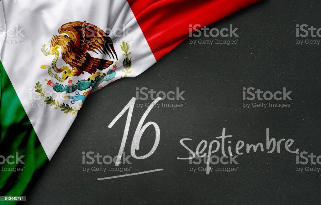 Día de la independencia de México. El 16 de septiembre - foto de stock