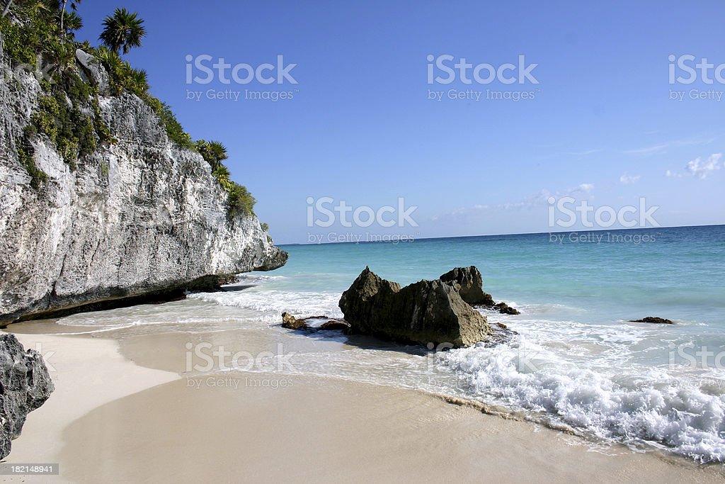 Mexican lagoon stock photo