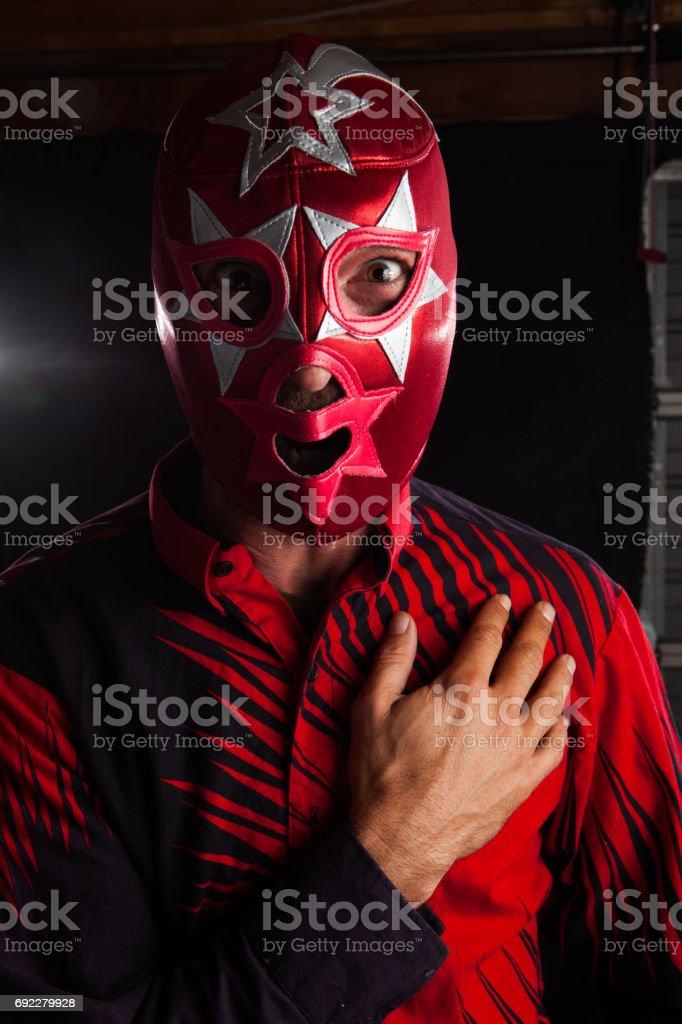 Mexican luchador stock photo