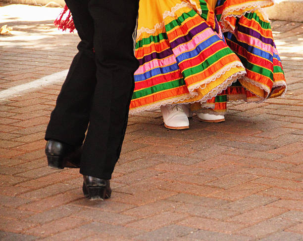 mexican man woman dance - cinco de mayo stock photos and pictures