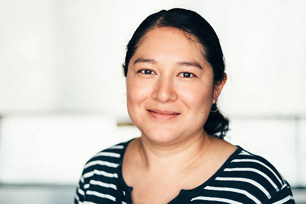 Mexican mid adult woman Portrait stock photo