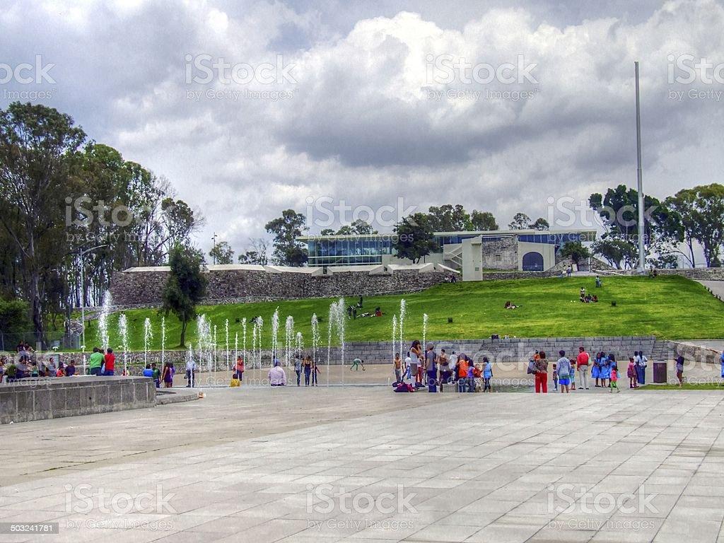 Mexicana, construcciones de los monumentos de la ciudad de México - foto de stock