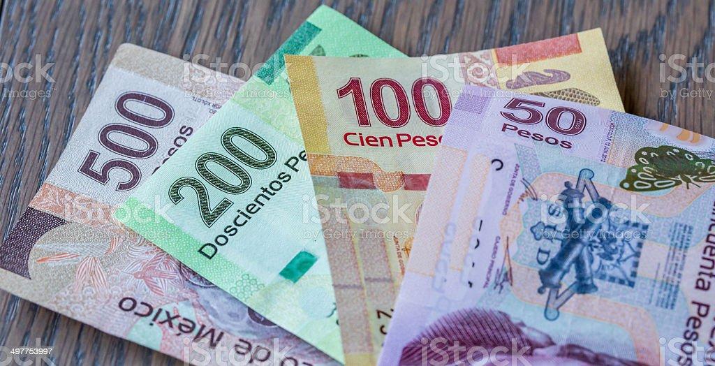 Mexican New Pesos stock photo