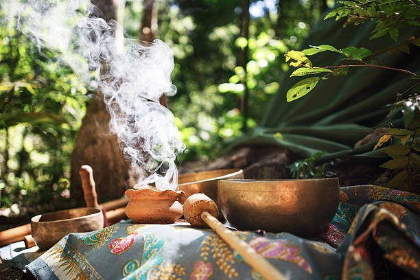 Mexican or Indian Sauna Hut - Stock image Mexican or Indian Sauna Hut. Sweat lodge. incense stock pictures, royalty-free photos & images