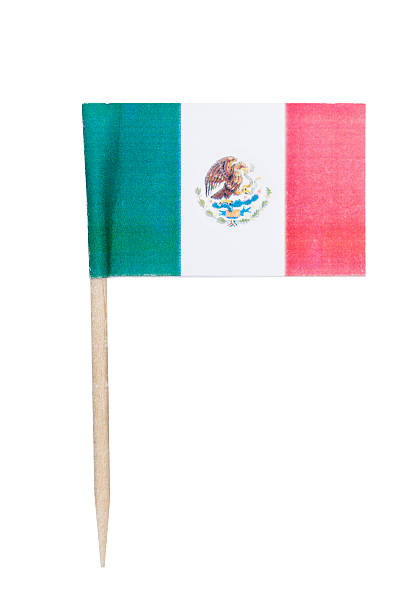 Mexican paper flag foto