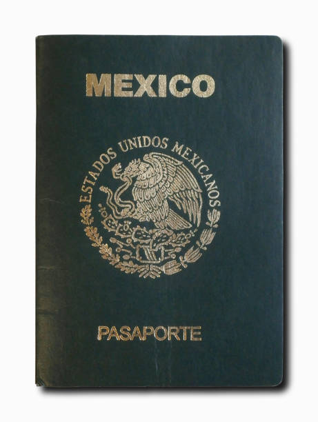 Mexican passport isolated on a white background stock photo