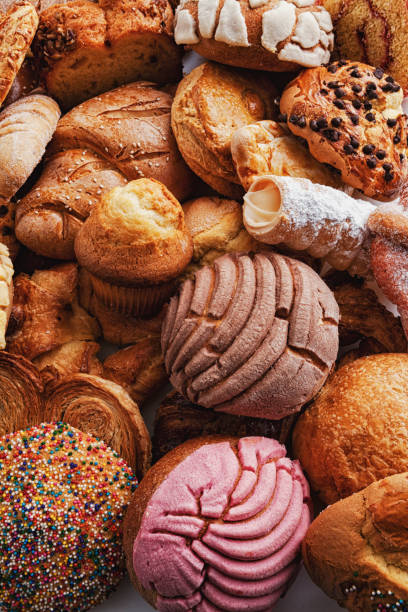 Mexican pastries Mexican pastries sweet bun stock pictures, royalty-free photos & images