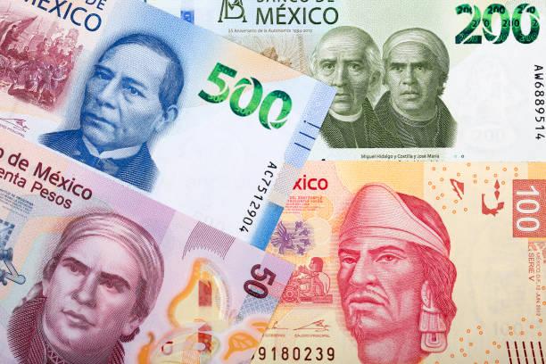 Mexikanische Peso ein Hintergrund – Foto