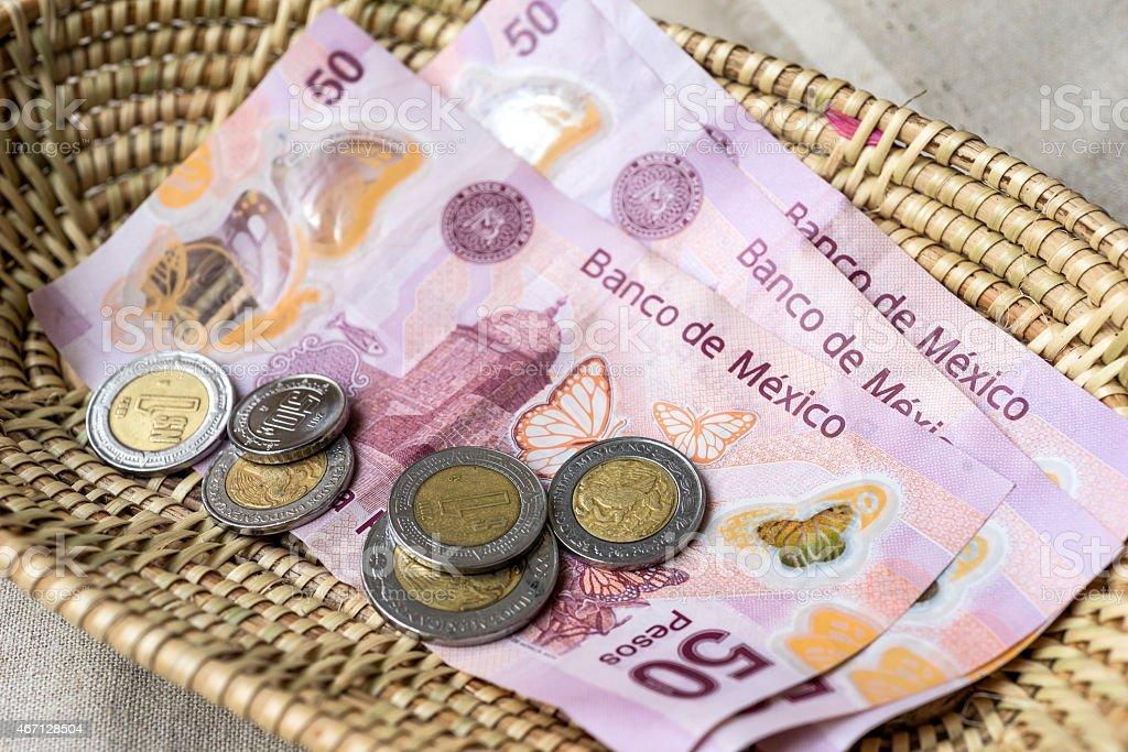 Mexican Peso stock photo