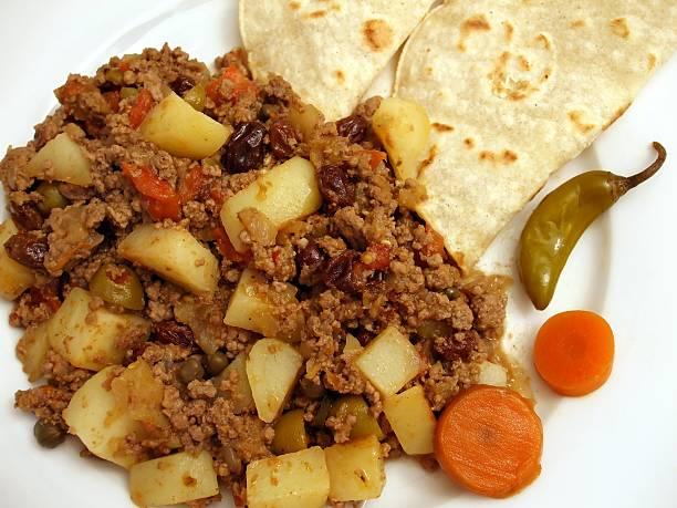 Mexican Picadillo Dinner stock photo