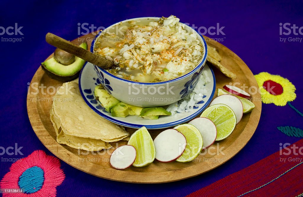Mexican Pozole Dish royalty-free stock photo