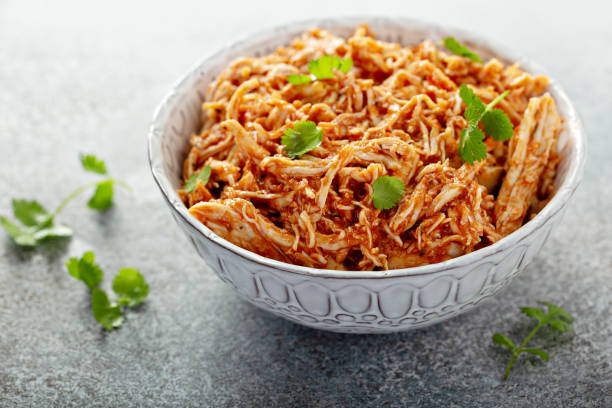 Mexican pulled chicken stock photo
