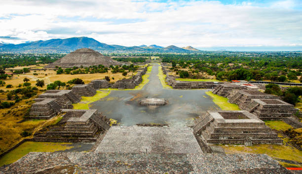 Mexican pyramids stock photo