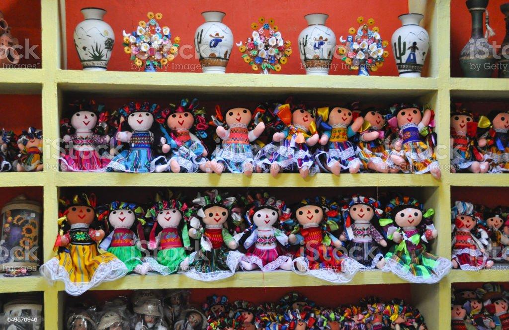 Pano bonecos mexicanos - foto de acervo