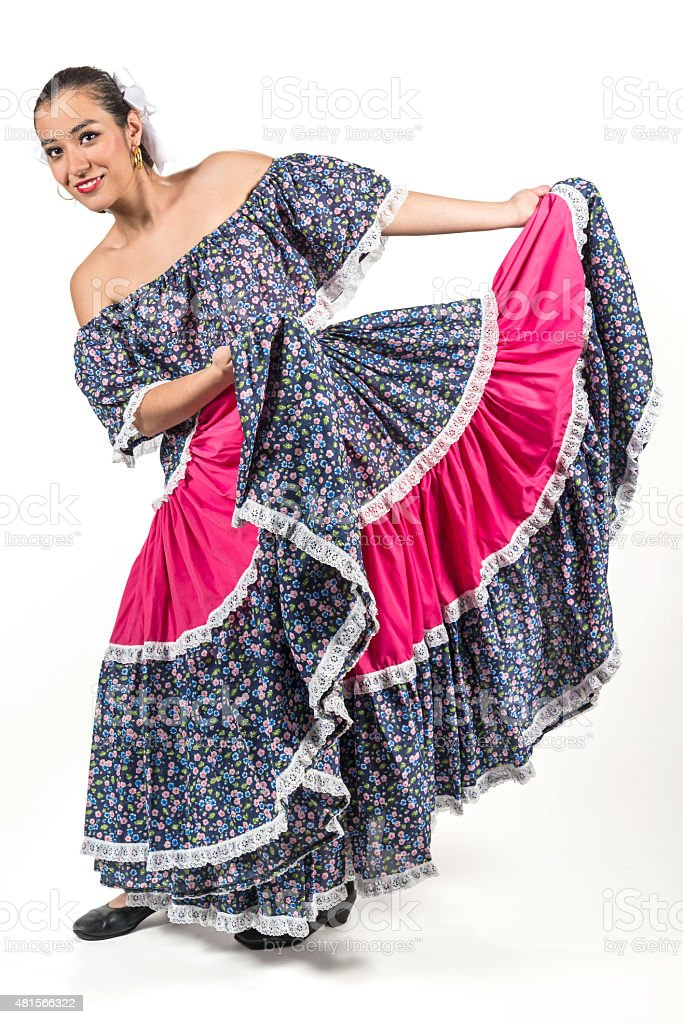 Mexican regional dancer stock photo