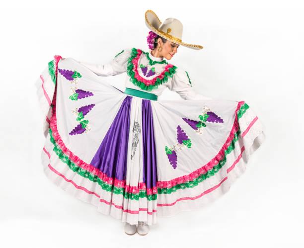 mexikanische regionalen tanz kleid - damen rock kostüme stock-fotos und bilder
