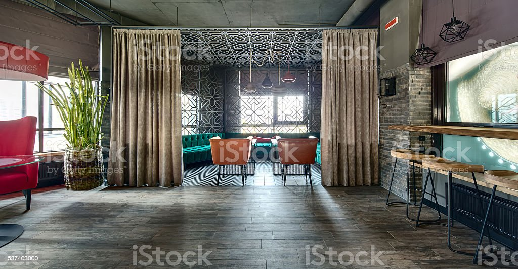 Mexican restaurant's interior stock photo