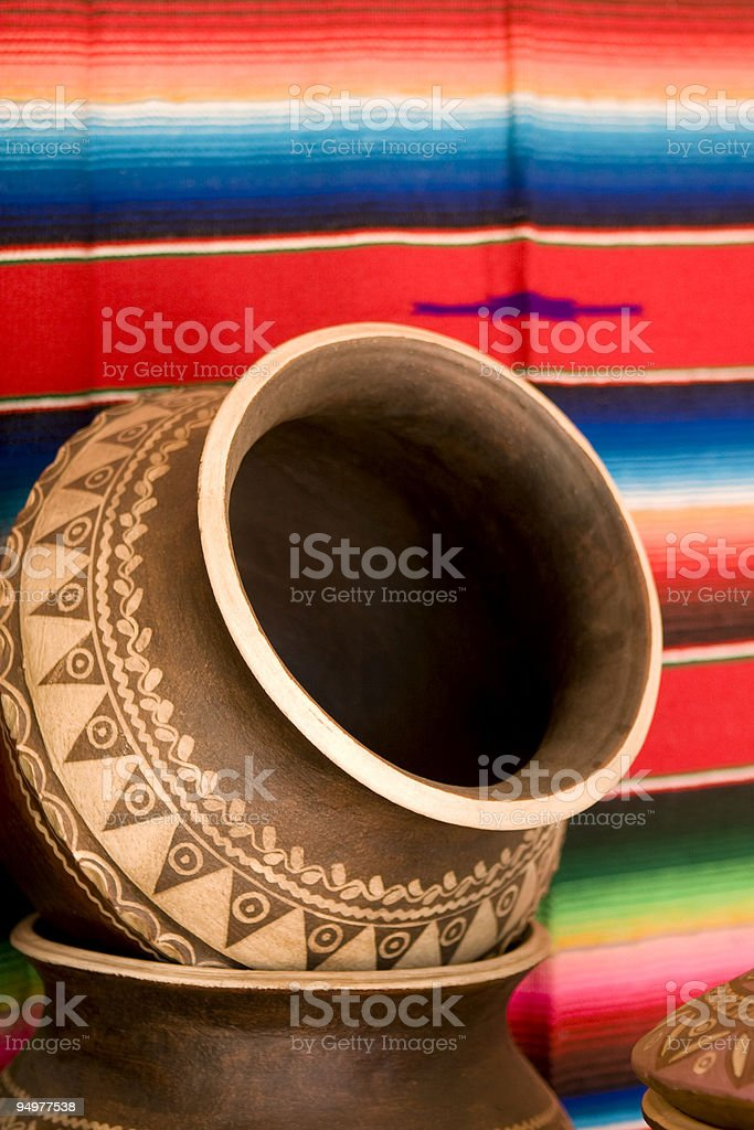 Mexican Rug and Urn royalty-free stock photo