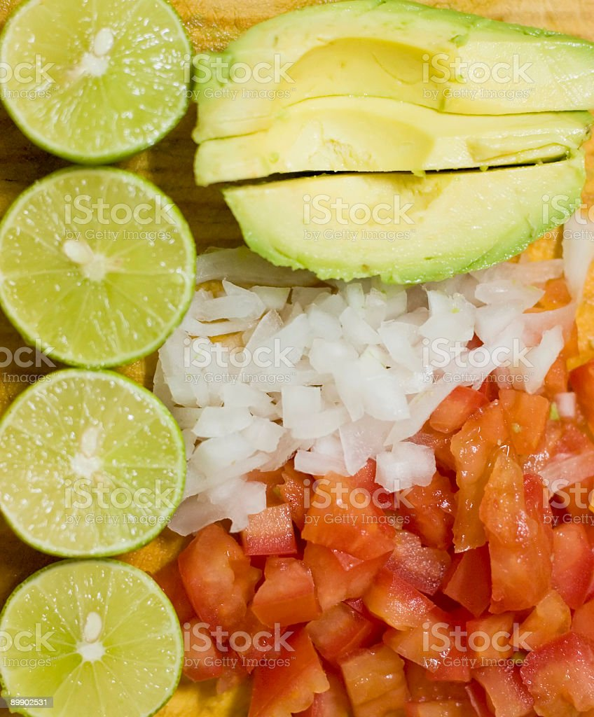 Mexican Seafood Cocktail Ingredients royalty-free stock photo