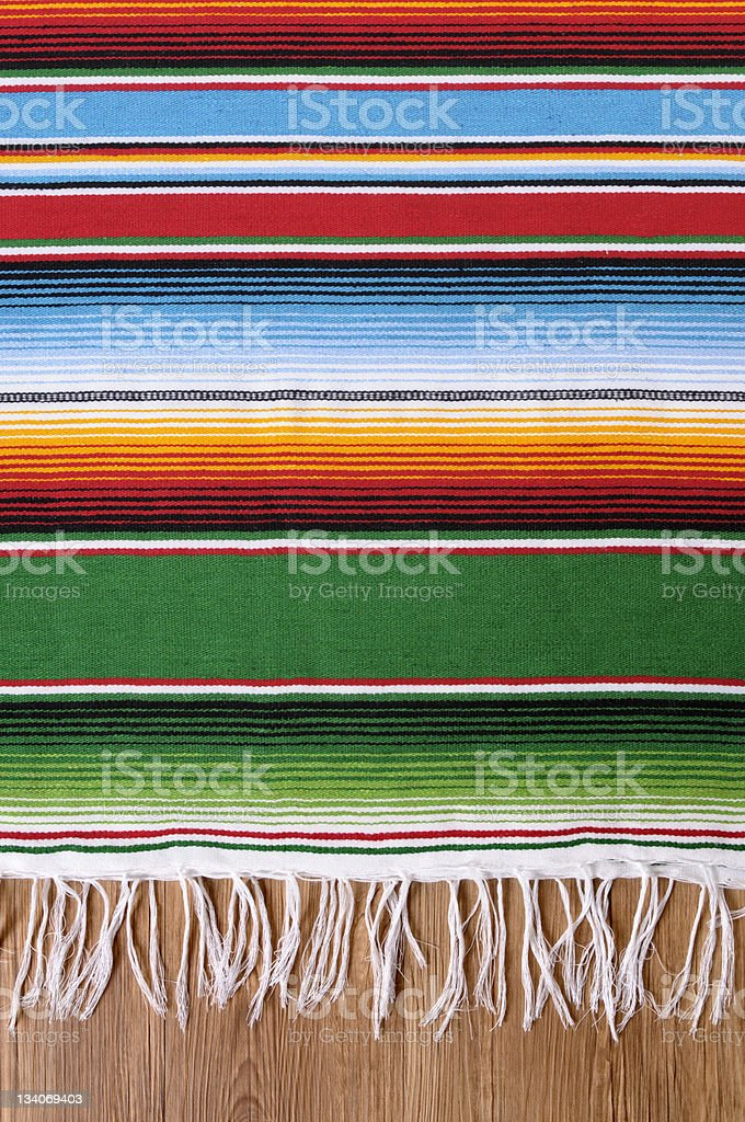 Mexican serape blanket stock photo