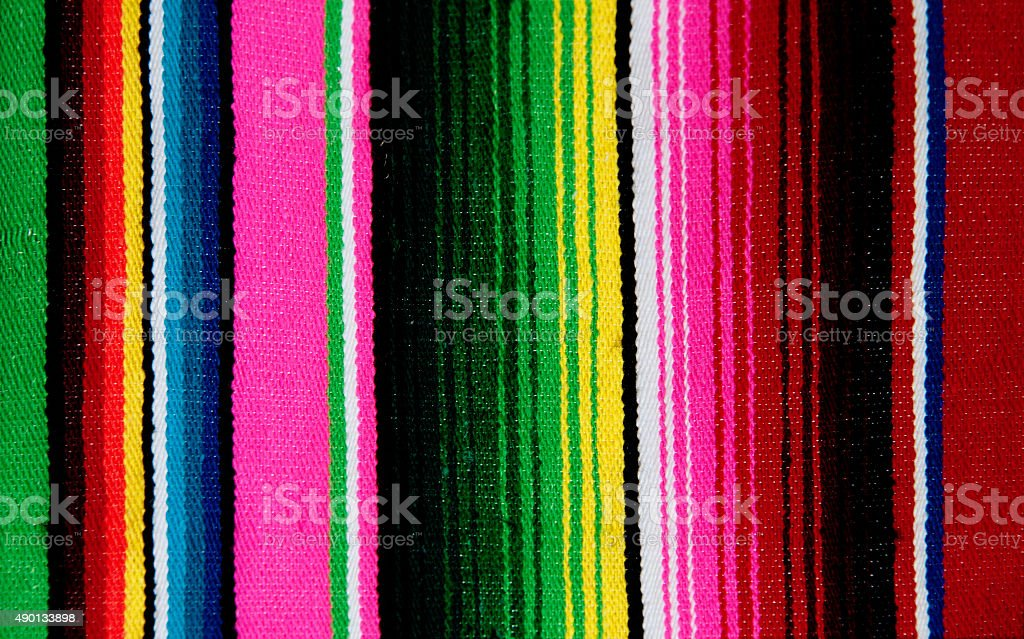 Mexican Serape Blanket, Textile Background stock photo