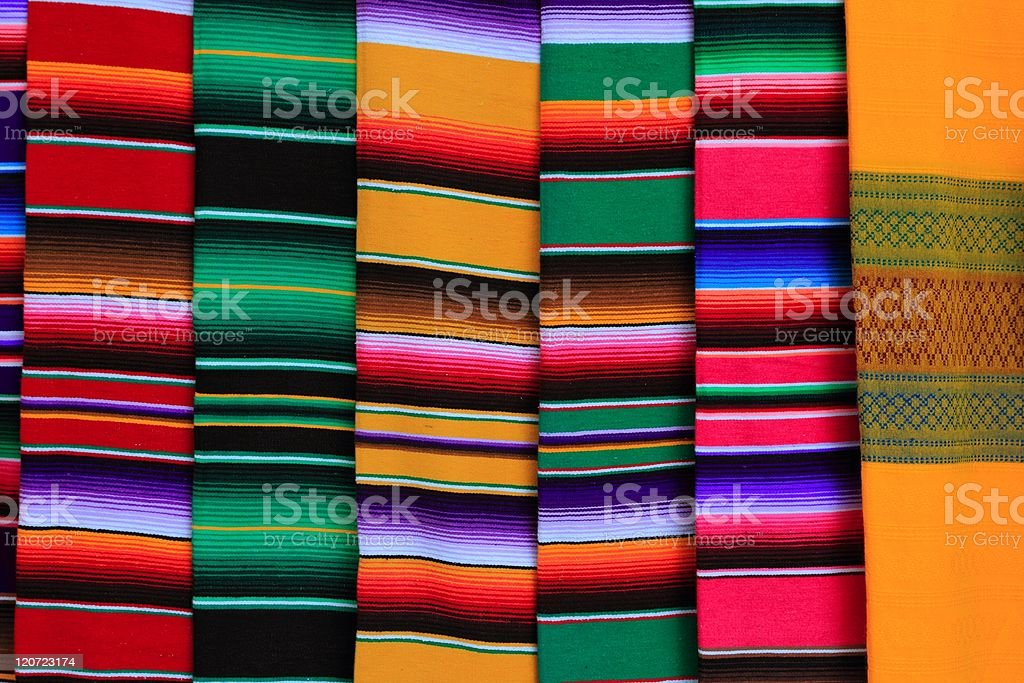 Mexican serape fabric colorful pattern texture royalty-free stock photo