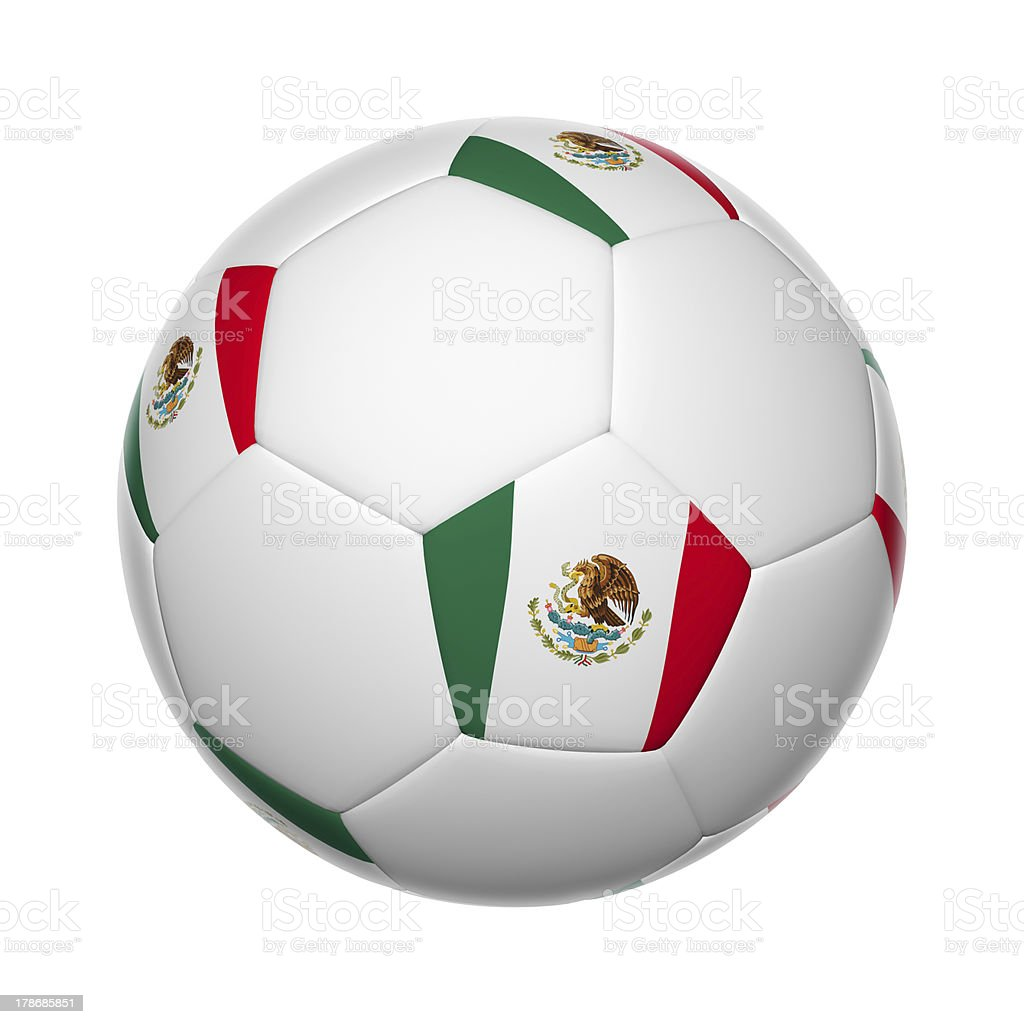 Mexican soccer ball stock photo